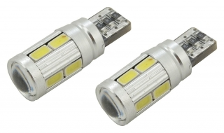 Žárovka 10 SMD LED 3chips 12V, T10 CAN-BUS ready bílá - 2ks